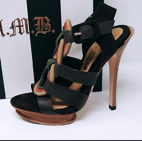 LAMB | zed leather Rasta stiletto heels